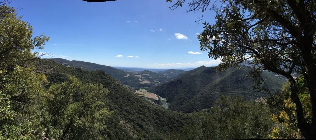 Een uitzicht tijdens de Epic Enduro in zuid-frankrijk