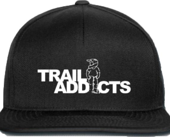 Trail Addicts petje zwart met wit logo