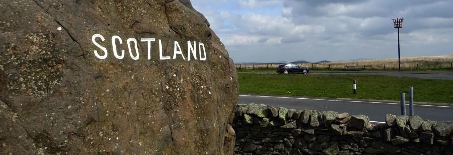 Grens met Engeland en Schotland