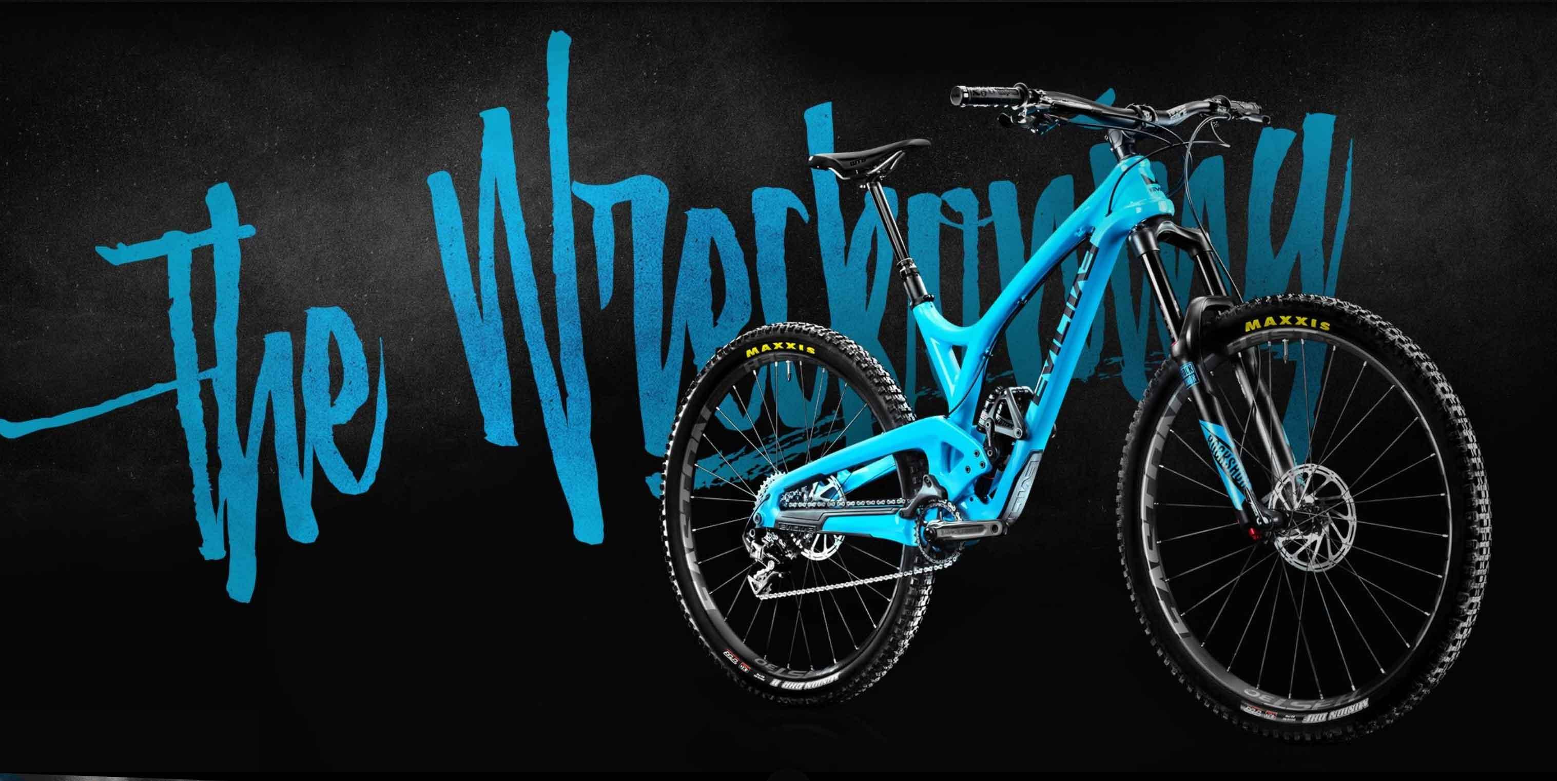 Evil bike the wreckoning in het blauw
