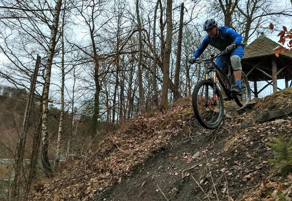 Coo België steile trail