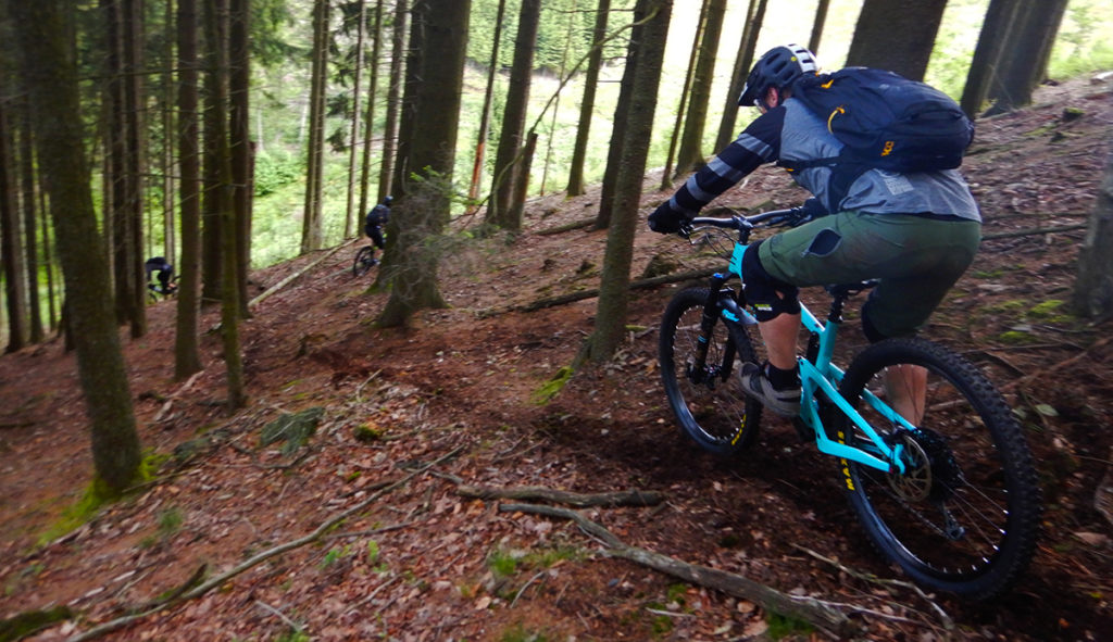 steile afdaling in Reinhardstein