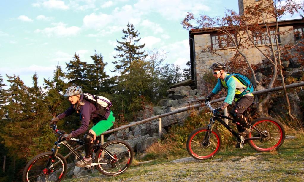 Trails rijden in Fichtelberg duitsland