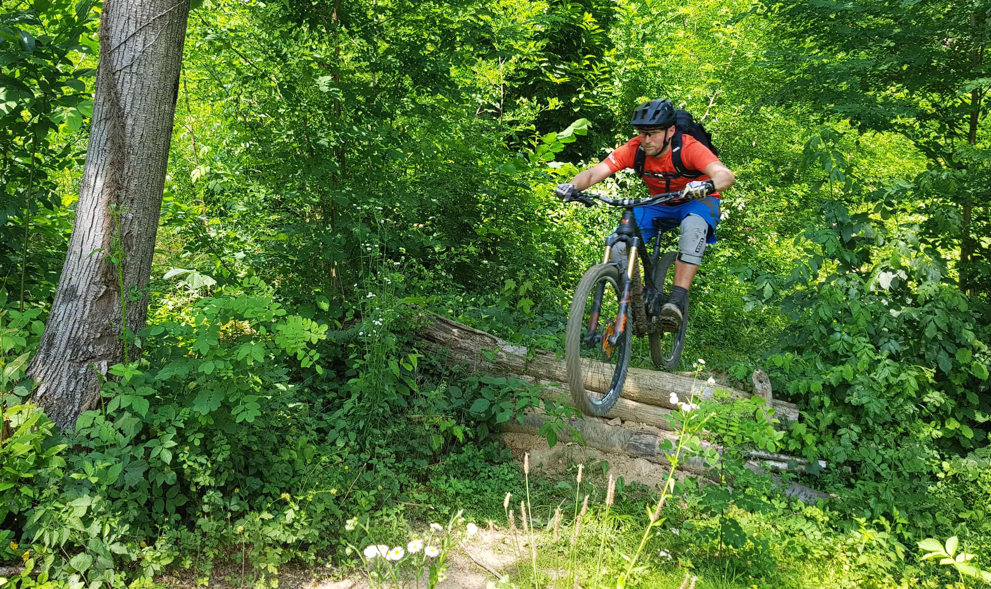 Lite drop in a local bike park in slovenia