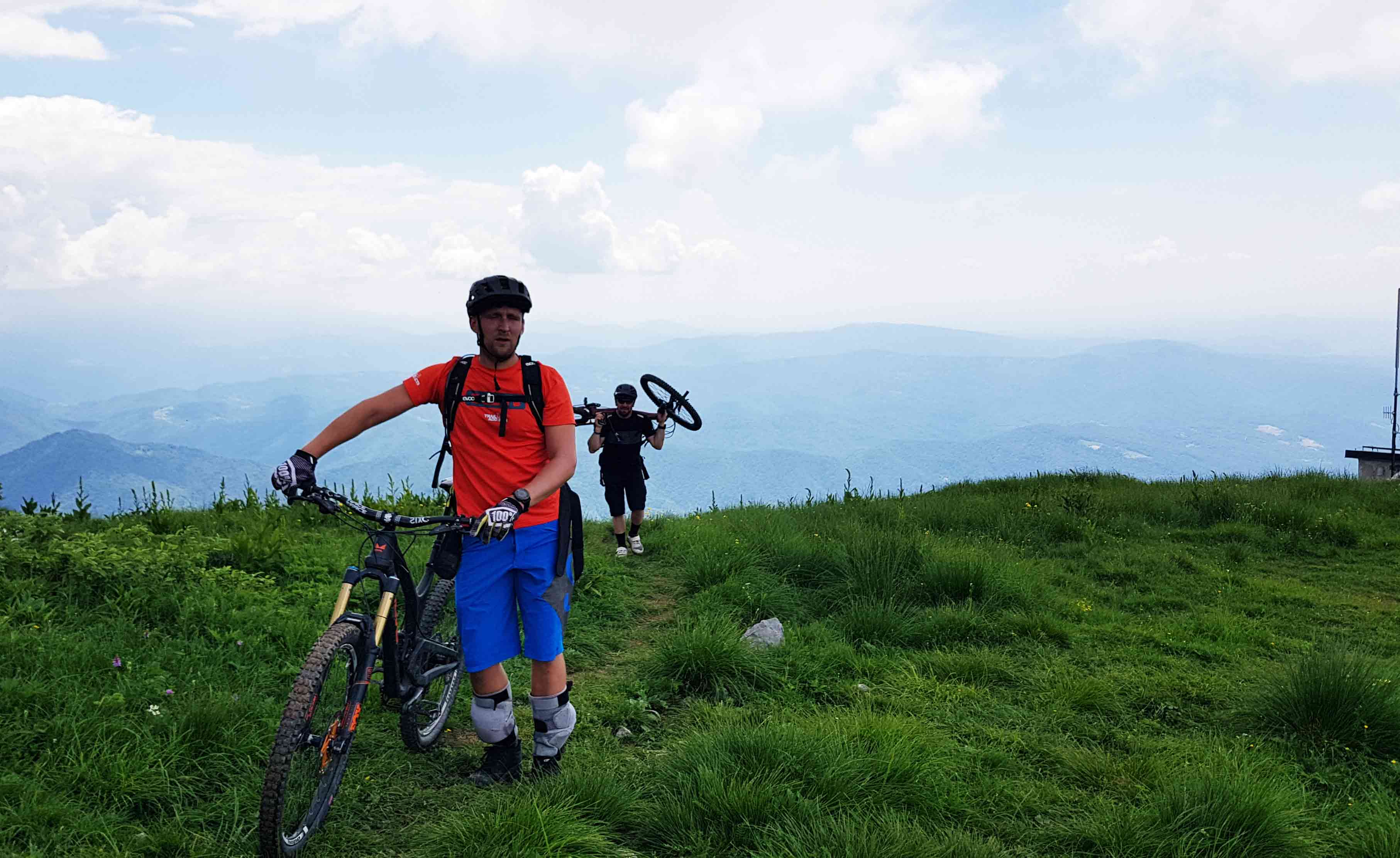 hiking op with the bike in slovenia