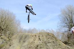 Dirt jumps in DirtE19 bike park