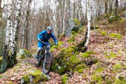 Trails bij Coo met veel rotsen, België