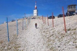 Start rode route 5 op de mont ventoux