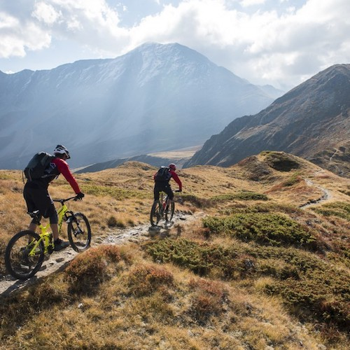 mountainbiken in Verbier zwitserland