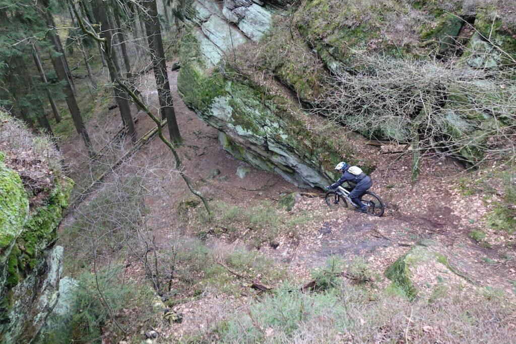 Technische trail secties in Tecklenburg