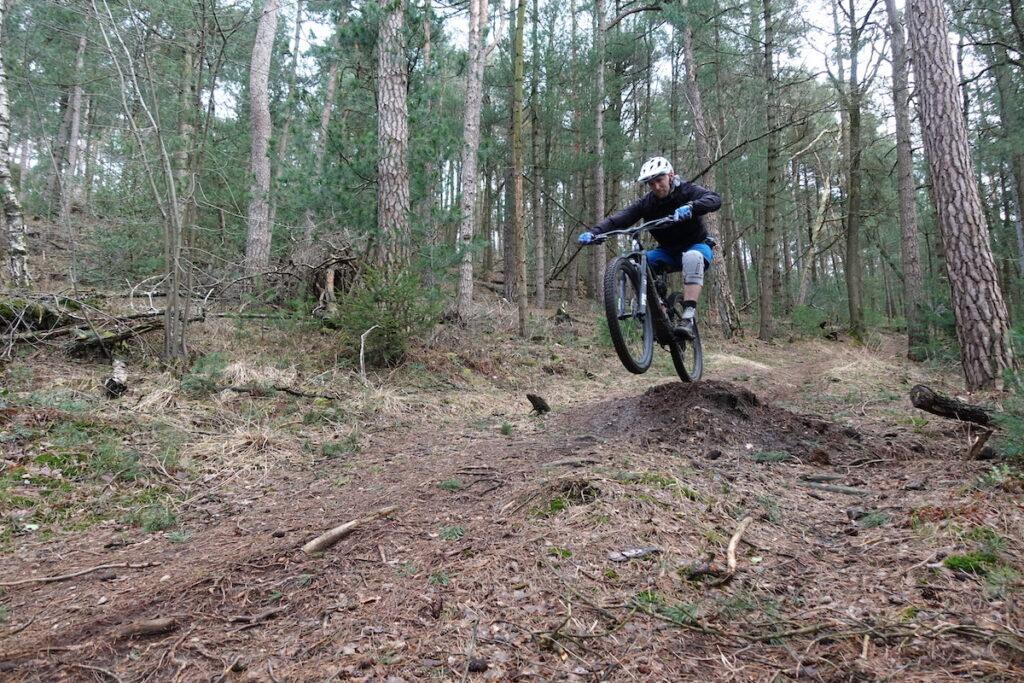 Jump in de trail op de Tecklenburg