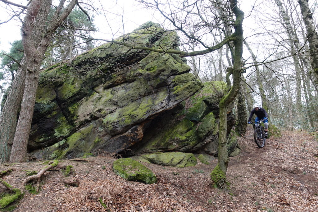 Grote rots formaties in Tecklenburg Duitsland