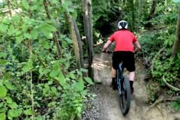 Start afdaling mountainbike route st. pietersburg maastricht