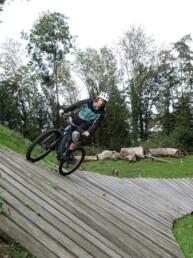Wall Ride van bike park Holten