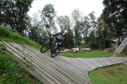 Wall Ride van bike park Holten