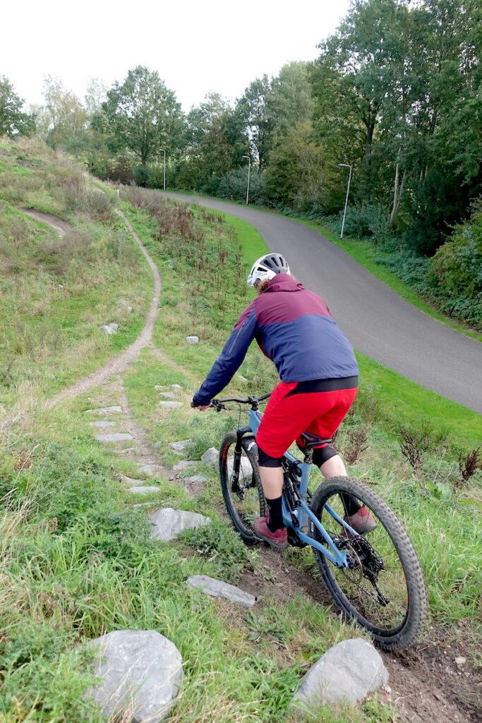 Rockgarden van bike park roosendaal