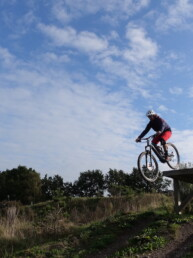 hoge drop bij bike park wieler experience roosendaal