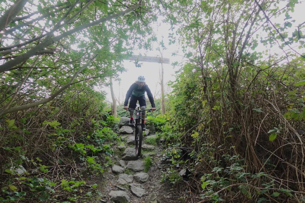 Red banana trail van bike park Spaarnwoude