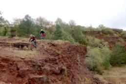 Mountainbiken in de Redrock region van Luxemburg