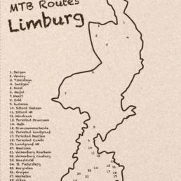 MTB Route Kaart Limburg