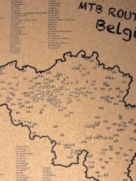 MTB route kaart België