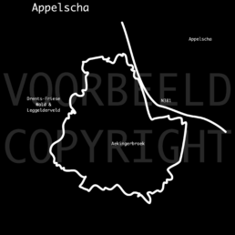 Mountainbike route Appelscha kaart