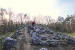 Rock garden op het bike park van Apeldoorn Bar end