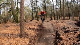 Jump op de granny trail op de posbank Arnhem Gelderland
