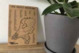 Mountainbike route kaart