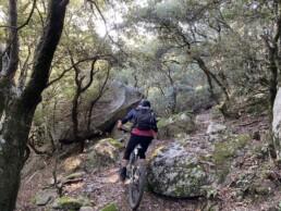 Girona mountainbiken rocky trails