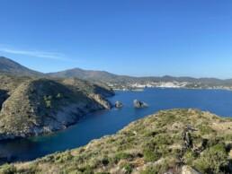 Pyrineeën uitzicht meer mountainbike trails