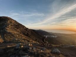Girona mountainbike zonsondergang