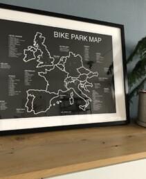 Poster met Europa bike parken